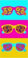 Plážová osuška Brýle