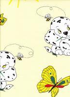 Povlečení bavlna Pejsek s motýlem žluté