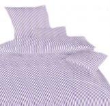 Povlečení bavlna Proužky fialové