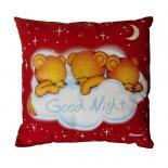 Svítící polštářek M-Sector Medvídci good night červená