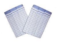 Utěrka Bambus 50x70 - Kostka malá modrá - 3 ks