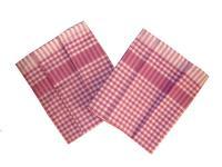 Utěrka PAR růžovobílá  kostka 45x65 cm  balení 3 ks