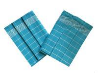 Utěrka Pozitiv Egyptská bavlna tyrkys/bílá - 3 ks