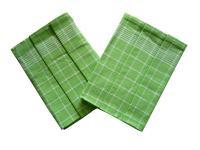 Utěrka Pozitiv Egyptská bavlna zelená/bílá - 3 ks