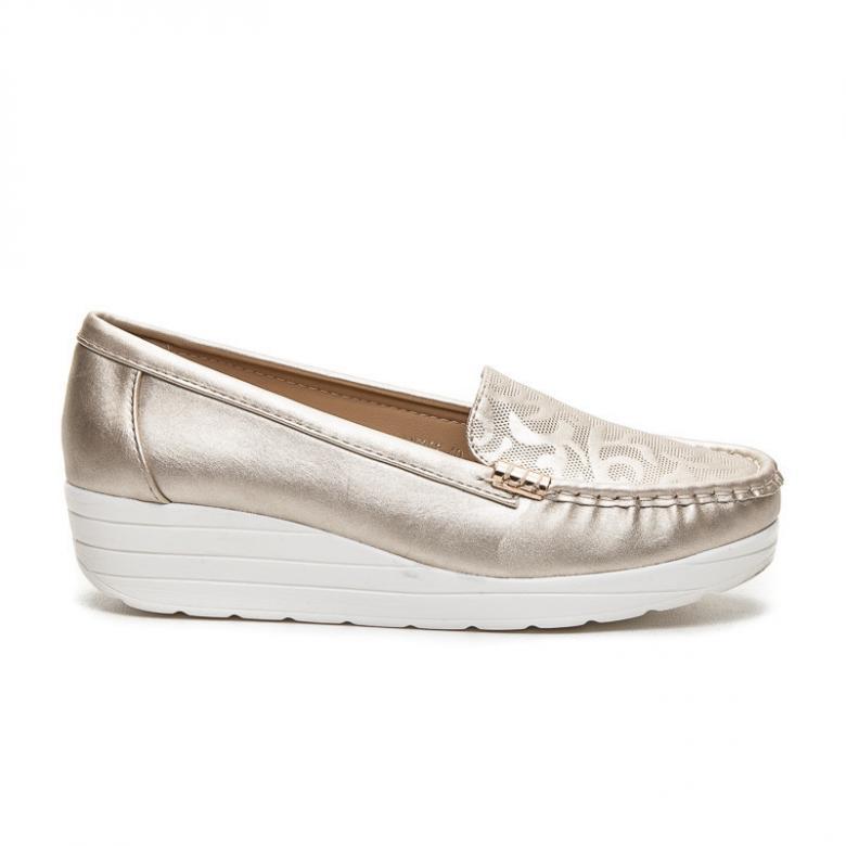 0c629097890cc Dámské zlaté mokasíny RandBE ME208GO - RandBE (Dámská obuv)