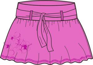 Dámská sukně O´Style 6257 fialová