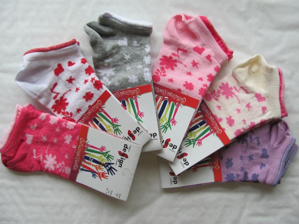 Dětské kotníkové ponožky Design Socks Flowers