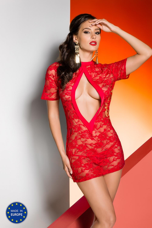 Dámská erotická košilka Avanua Rika chemise červená