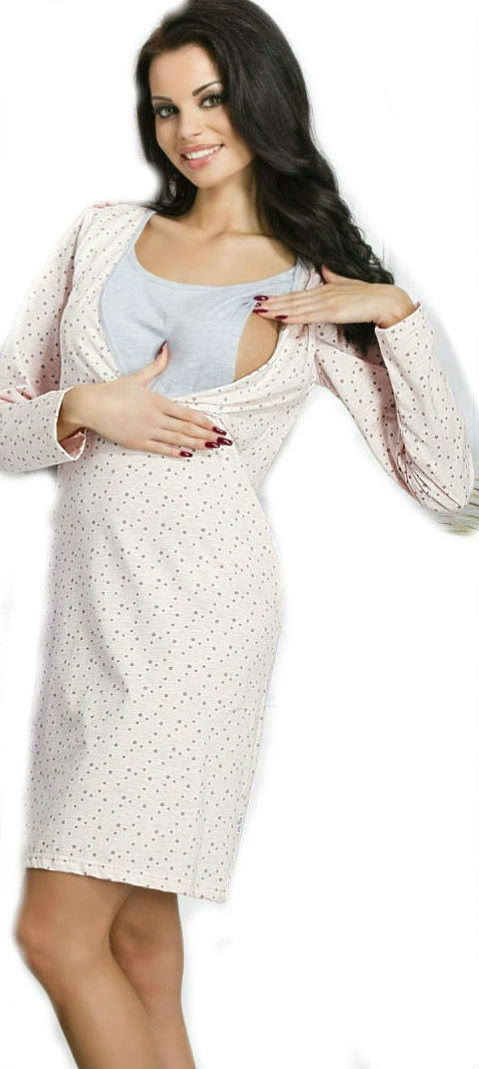 Dámská kojící noční košile Taro 1091 Linda pink