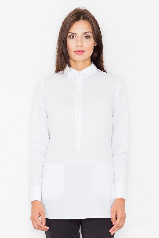 Dámská košile FIGL M493 bílá
