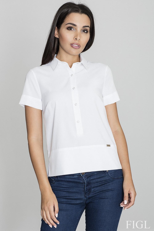 Dámská košile Figl M548 bílá
