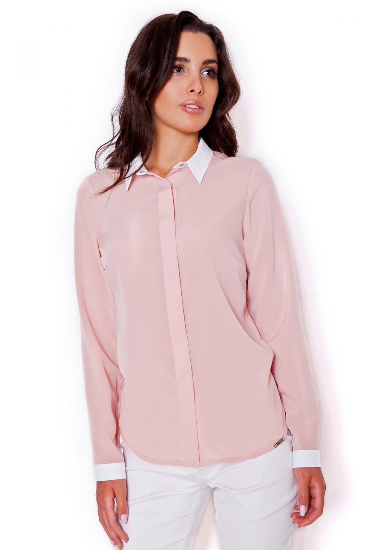 Dámská košile Katrus K275 růžová