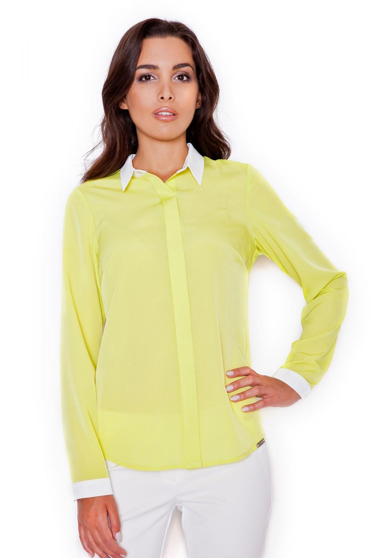 Dámská košile Katrus K275 žlutá
