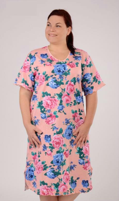 Dámská nadměrná noční košile Vienetta Secret Róza