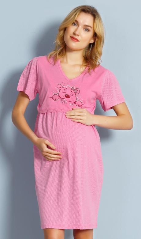 Dámská noční košile mateřská Vienetta Secret Medvídek