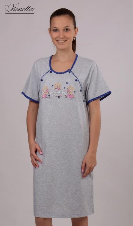 Dámská noční košile mateřská Vienetta Secret Káčata