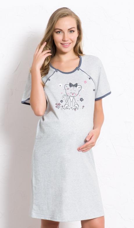 Dámská noční košile mateřská Vienetta Secret Kotě