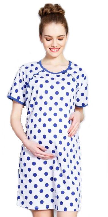 Dámská noční košile mateřská Vienetta Secret Kuličky