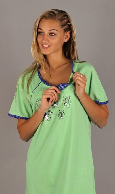 Dámská noční košile mateřská Vienetta Secret Květy