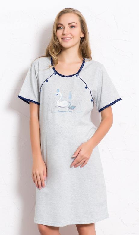 Dámská noční košile mateřská Vienetta Secret Labutě