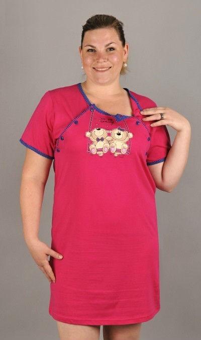 Dámská noční košile mateřská Vienetta Secret Méďové na houpačce
