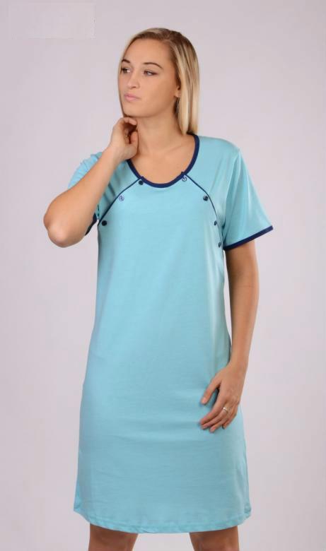 Dámská noční košile mateřská Vienetta Secret Pomněnka