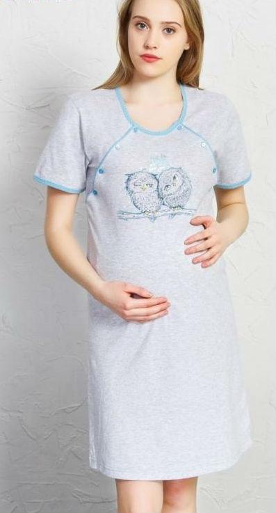 Dámská noční košile mateřská Vienetta Secret Sovy