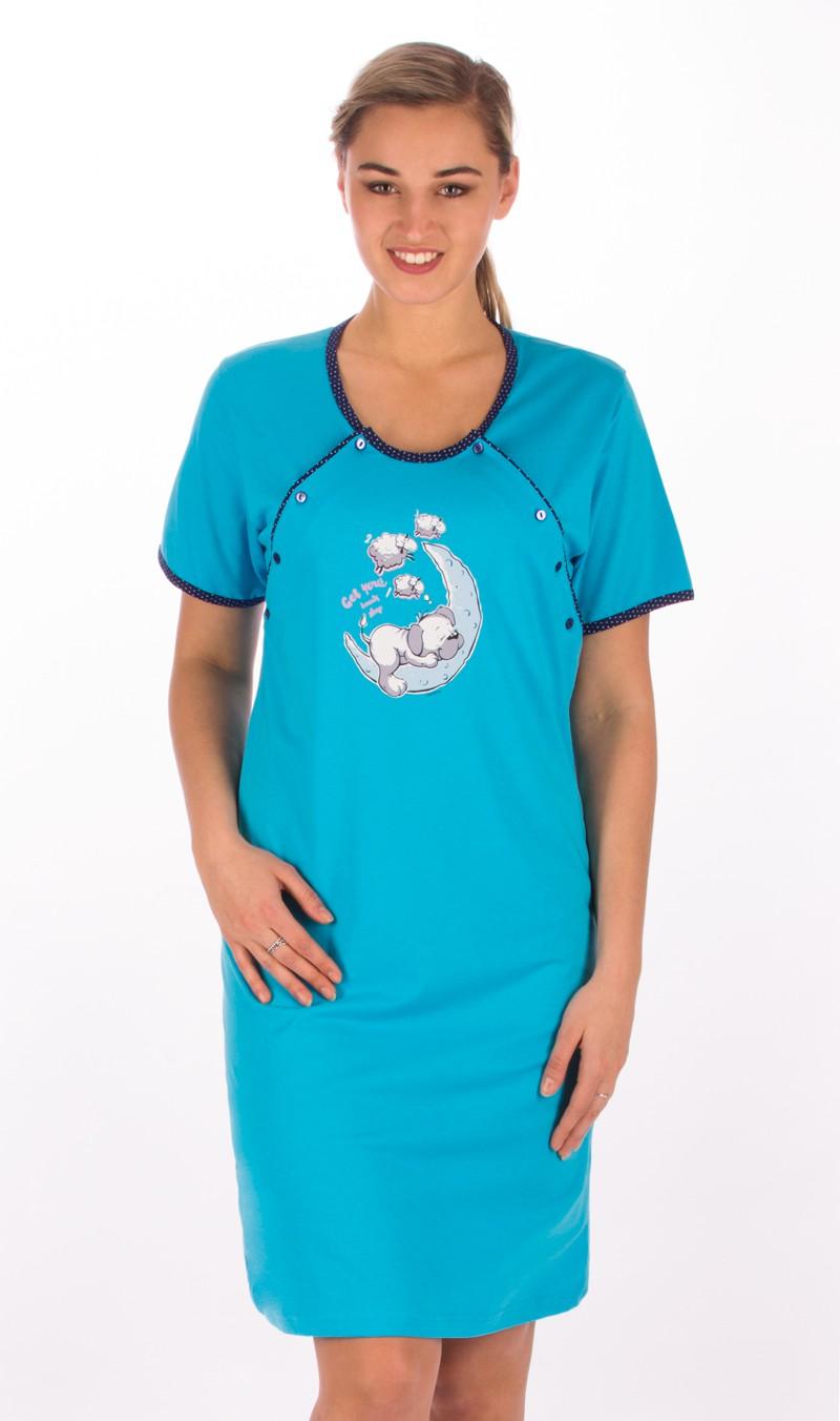 Dámská noční košile mateřská Vienetta Secret Štěně na měsíci