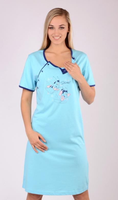 Dámská noční košile mateřská Vienetta Secret Včely