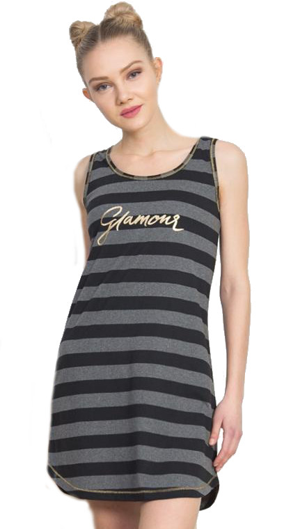 Dámská noční košile na ramínka Vienetta Secret Glamour