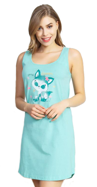 Dámská noční košile na ramínka Vienetta Secret Kotě