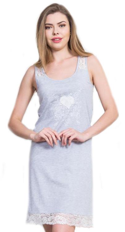 Dámská noční košile na ramínka Vienetta Secret Srdíčko