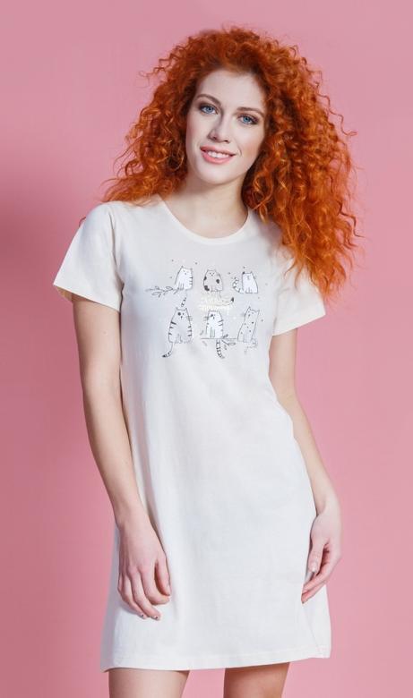 Dámská noční košile Vienetta Secret Cats