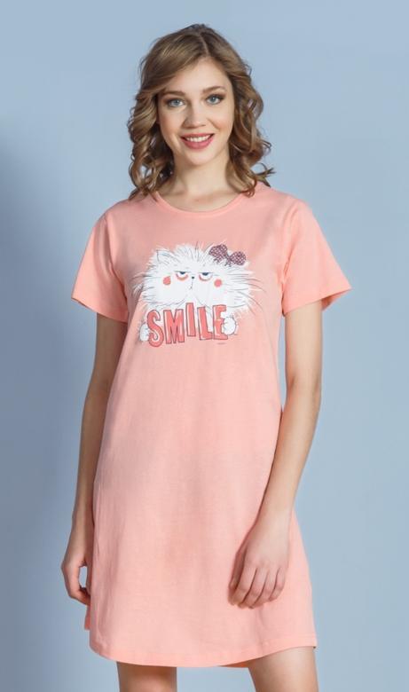 Dámská noční košile Vienetta Secret Kočka Smile