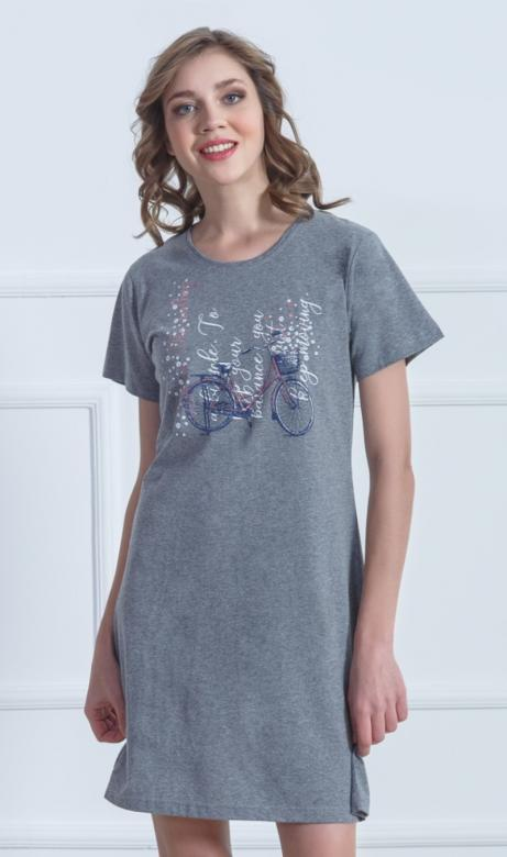 Dámská noční košile s krátkým rukávem Vienetta Secret Kolo