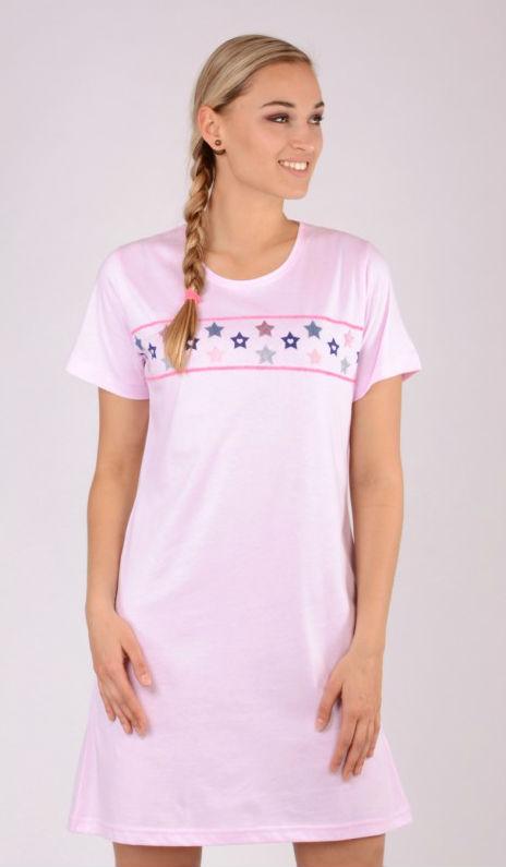 Dámská noční košile Vienetta Secret Hvězdičky modré