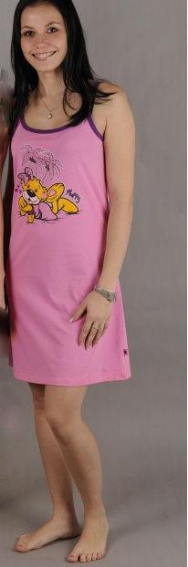 Dámská noční košile Vienetta Secret Méďa pod palmou