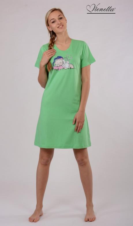 Dámská noční košile Vienetta Secret Ovce s čepicí