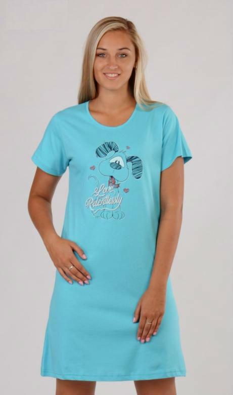 Dámská noční košile Vienetta Secret Pes Love