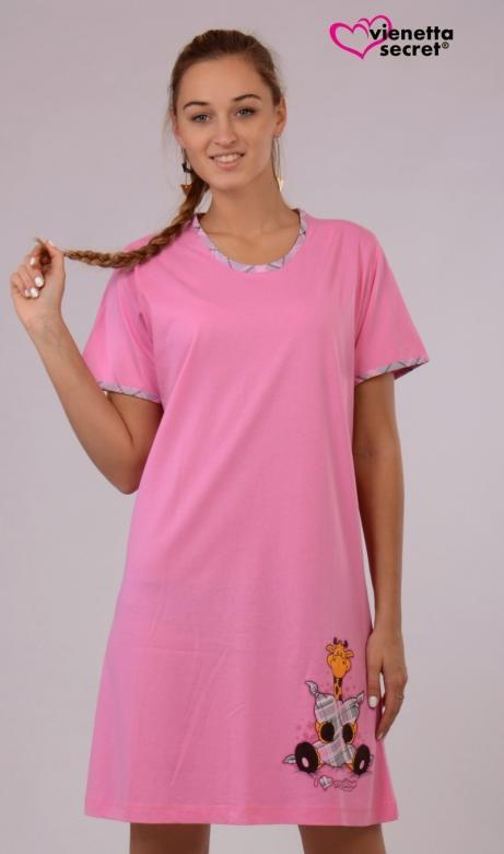 Dámská noční košile Vienetta Secret Žirafa polštář My pillow