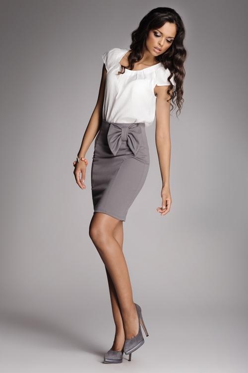 Dámská sukně FIGL M080 grey