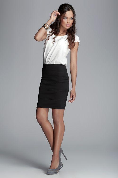 Dámská sukně FIGL M084 černá
