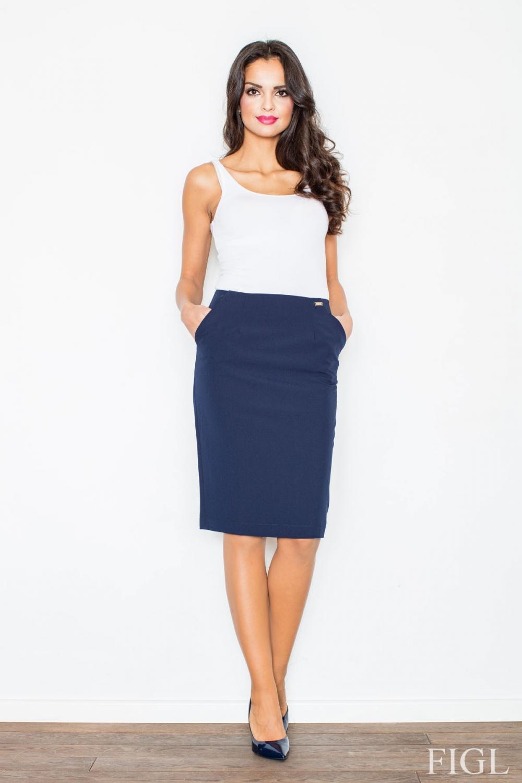 Dámská sukně FIGL M260 modrá