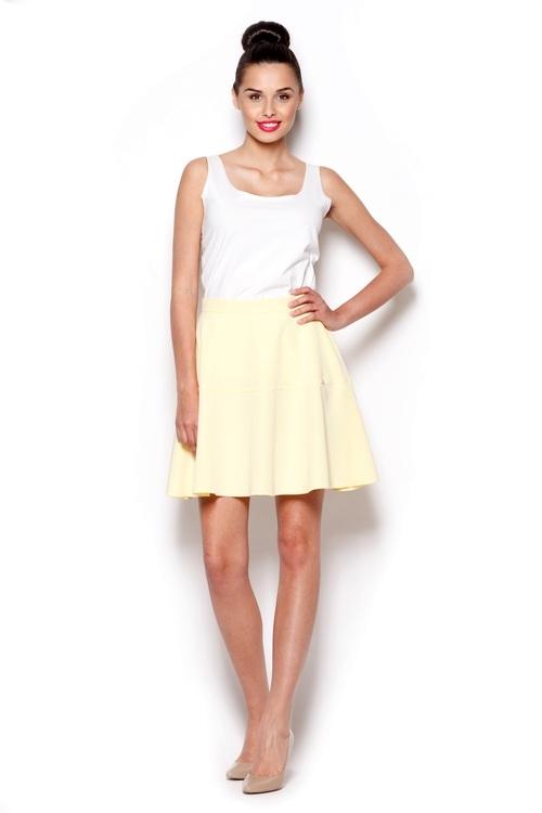 Dámská sukně FIGL M285 žlutá