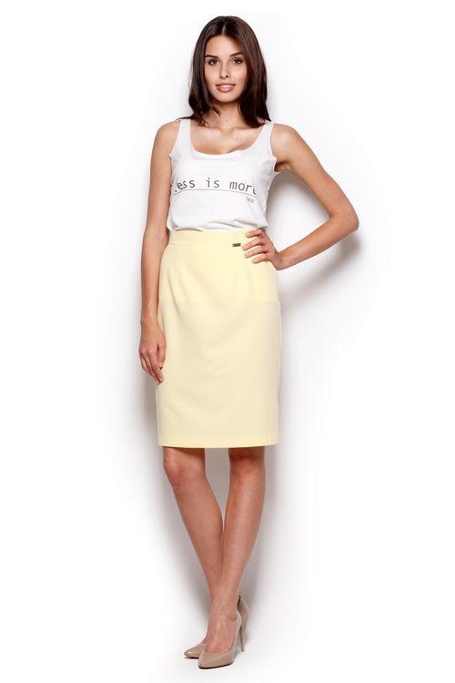 Dámská sukně FIGL M308 žlutá