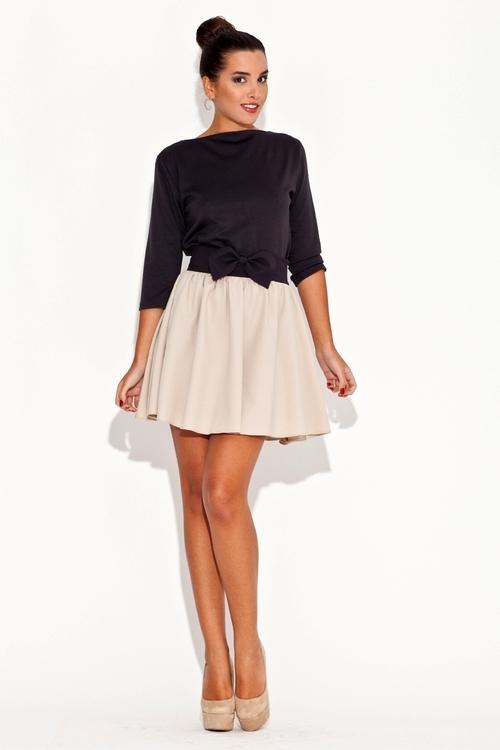 Dámská sukně Katrus K056 černo béžová