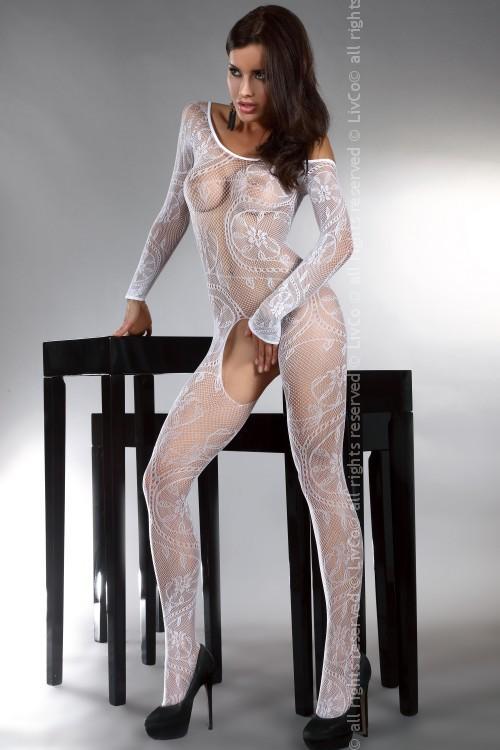 Dámské Bodystocking LivCo fashion Abra white
