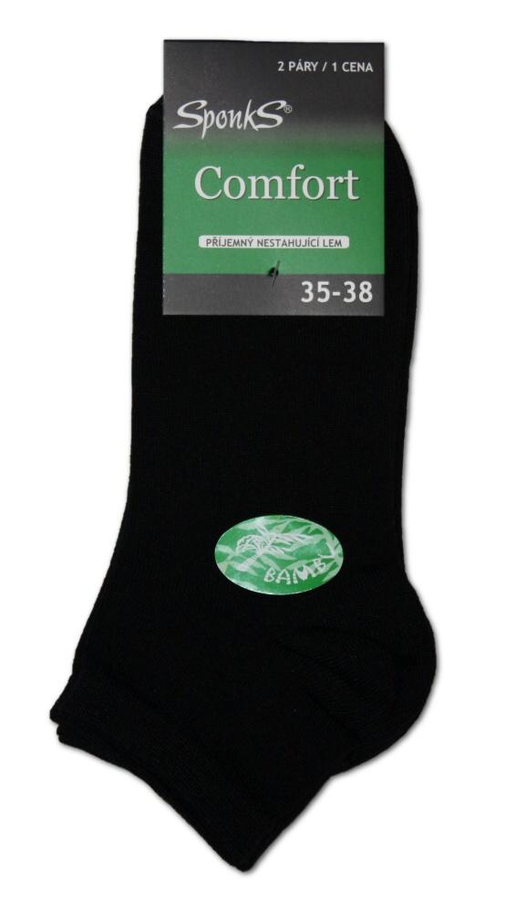 Dámské či pánské bambusové kotníkové ponožky Sponks - 2 páry