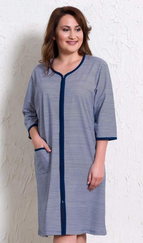 Dámské domácí šaty s tříčtvrtečním rukávem Vienetta Secret Pláž