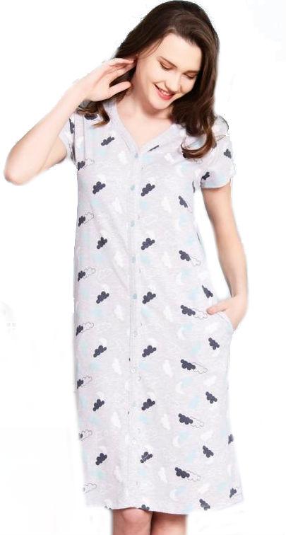 Dámské domácí šaty s krátkým rukávem Vienetta Secret Nebe e6a0d16325